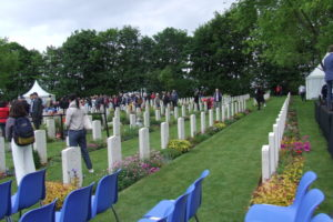 A view of the Beny-sur-Mer Canadian War Cemetery