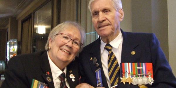 Beth & 99-yr. old veteran Alphonse Vautour of Shediac