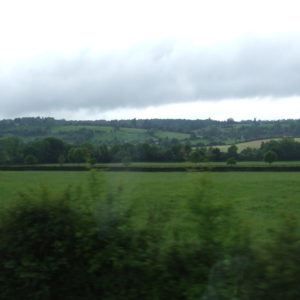 picture of the flat farmland and hills