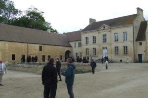 the Abbaye courtyard