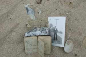 tribute to my Dad on the beach